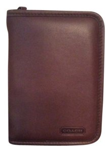 Coach Brown Leather Planner