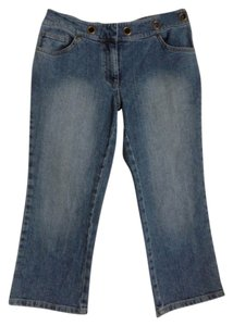 INC International Concepts Capri/Cropped Denim-Medium Wash