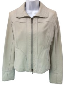 Giorgio Armani Leather EGGSHELL Jacket