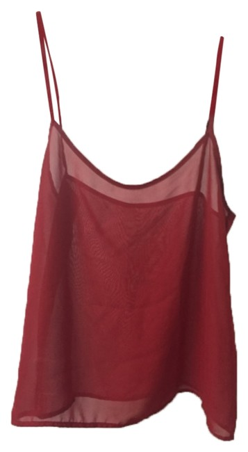 American Apparel Chiffon Camisole Red Top American Apparel Chiffon Camisole Red Top Image 1