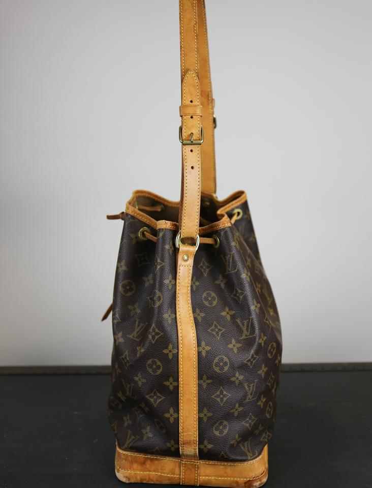 04cdc337560f Louis Vuitton Vintage Noe Gm Monogram Brown Coated Canvas Tote - Tradesy