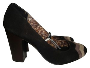 Missoni for Target Leather Brown Zigzag black Pumps