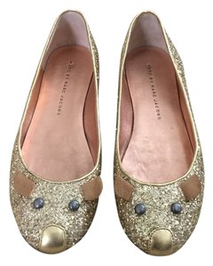 Marc by Marc Jacobs Ballet Glitter Gold Flats