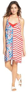 Nordstrom short dress Red White and Blue Flag Patriotic Cover Up on Tradesy