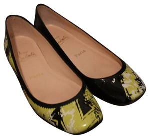 Christian Louboutin Patent Black/Yellow Flats