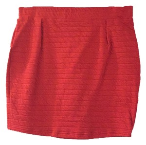 Sparkle & Fade Mini Skirt Red