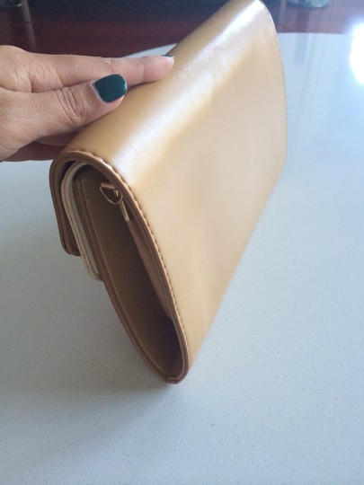 59th Street Envelope Faux Leather Khaki Tan Clutch