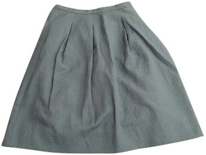 H&M Skirt teal green/dusty lilac purple