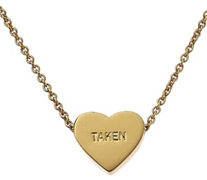 Kate Spade NWT Kate Spade Gold Taken or Single Heart Necklace