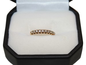 18K Yellow Gold Eternity Half Diamond Band