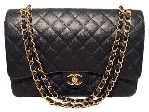 Chanel Classic Classic 2.55 Double Flap Maxi Flap Shoulder Bag