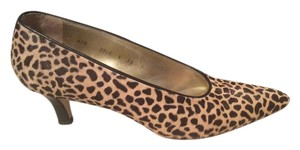 Walter Steiger Pony Hair Leopard Tan and Black Pumps
