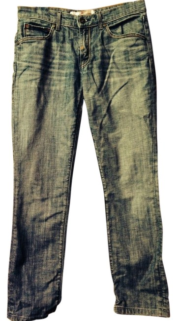 Easy Money Jean Company Skinny Low Rise Distressed Straight Leg Jeans-Distressed