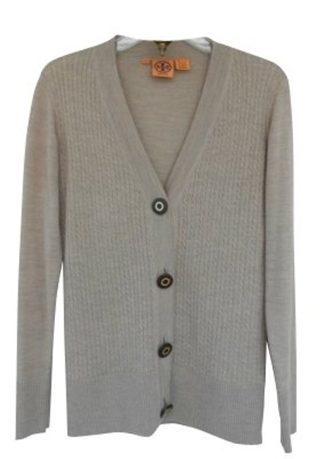 Preload https://item2.tradesy.com/images/tory-burch-beige-grey-cardigan-size-8-m-96-0-0.jpg?width=400&height=650