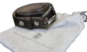Brunello Cucinelli * Brunello Cucinelli Brown Leather Belt - Size Medium (33)