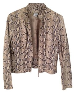 Guy Furlop Leather Snake Skin Pattern Leather Jacket
