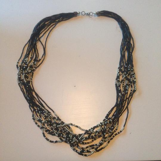 Other Chunky Black And Gold Beaded Necklace