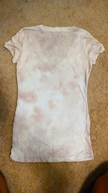 American Eagle Outfitters T Shirt White and lavendar