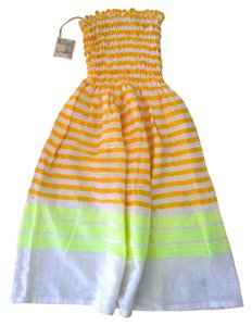 lemlem short dress LemLem Orange, yellow, white Summer New With Tags Strapless on Tradesy