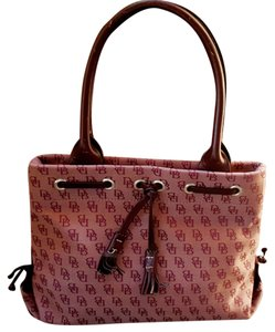 Dooney & Bourke Leather Tote in Purple Brown