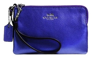 Coach Coach Leather Metallic Wristlet