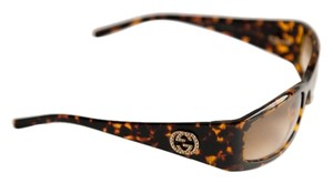 Gucci Gucci tortoise sunglases with brilliants monogram