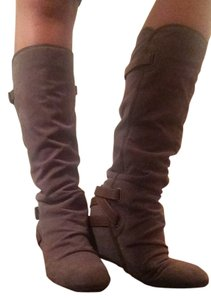 ALDO Utility Brown And Suede And Leather Casual Gray Boots