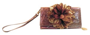 deux lux Lavender Wallet Prom Convertible Smartphone Pulple Gold Iridescent Clutch