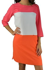 Tommy Hilfiger short dress Pink White Orange on Tradesy
