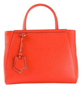 Fendi 2jours Tote in Papavero orange