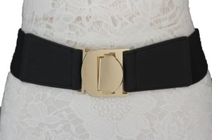 Other Women Fashion Belt Red Gold Black Beige Coral Green Elastic Buckle