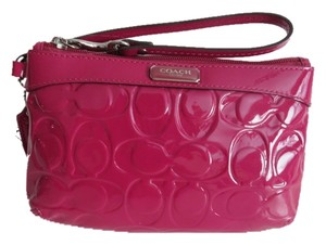 Coach Pink Patent Leather Wristlet in Pink, Purple