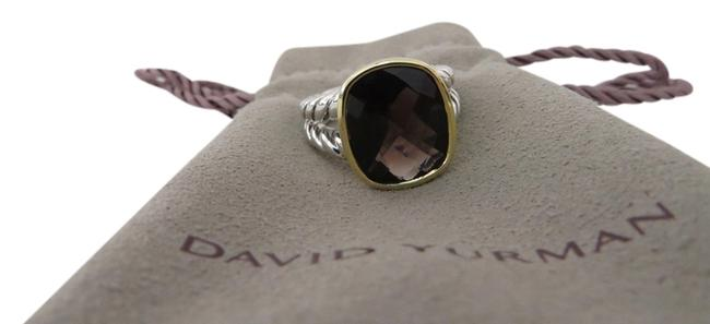 Item - Brown Noblesse Collection - 14mm X 12mm Smokey Quartz Size 6.5 Ring
