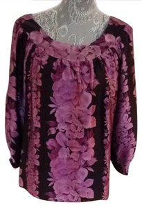 Nanette Lepore Top Black and Purple