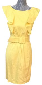 Adrianna Papell short dress Yellow on Tradesy