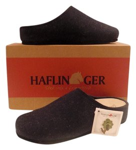 Haflinger Slip Ons Comfortable Comfort Anatomic Arch Support Cushioned Fit Flop Flat Birkenstock Wool Boiled Wool New New With blue Mules