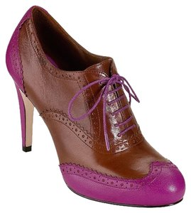 Cole Haan Lucinda Oxford Pump Beet/Seqouia Tan/Pink Pumps