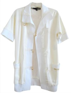 Moschino Love Whaite Coat Short Sleeve White Jacket