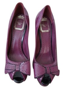 Dior Christian Heels Burgundy Rose red Pumps