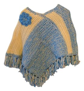 Colorful Crocheted Handmade Cape