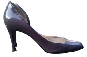 Christian Louboutin Italy Leather Heels Plum Pumps