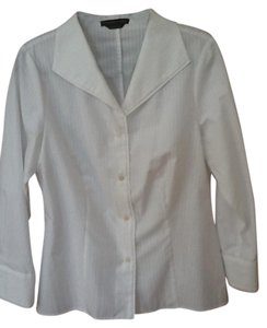 Adrienne Vittadini Button Down Shirt White