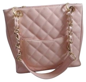 Chanel Tote in Pink with goldtone hardware