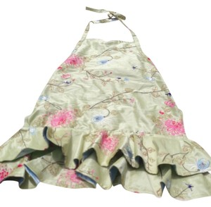 Haute Hostess Aprons Multi Colored Flowers Dress