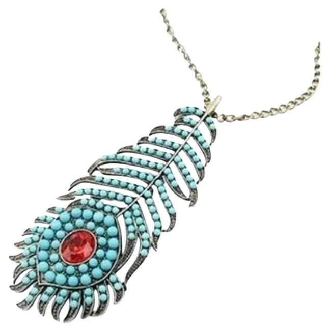 Item - Turquoise Bohemian Peacock Blue Beaded Class Necklace