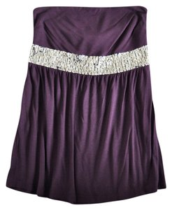 Express Tube Sequin Empire Waist Top Purple
