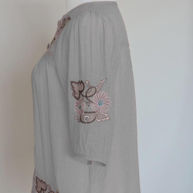 Other Embroidered Top Gray