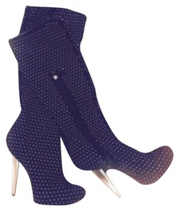 guisseppe studded Black and Silver Studded Boots
