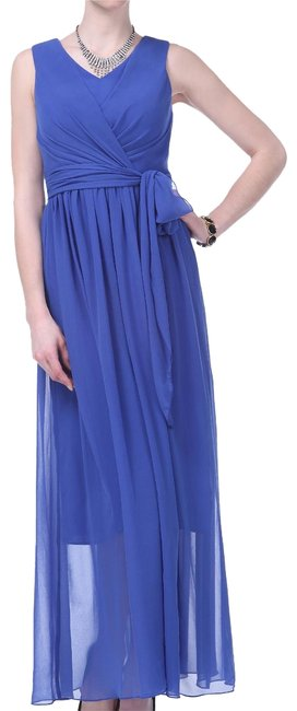 Preload https://img-static.tradesy.com/item/96139/blue-graceful-sleeveless-waist-tie-long-formal-dress-size-2-xs-0-2-650-650.jpg
