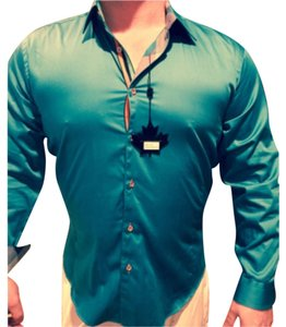 Jared Lang Button Down Shirt Teal